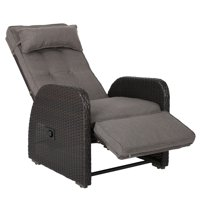 La Pelonne Outdoor Recliner w/ Cushion, Brown