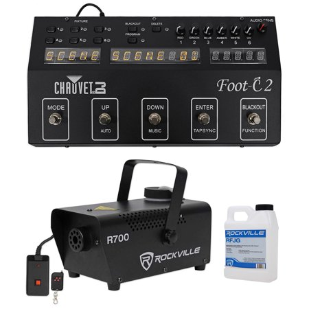 Chauvet DJ Foot C-2 36-Channel DMX Foot Controller w/MIDI Input w/Display+Fogger