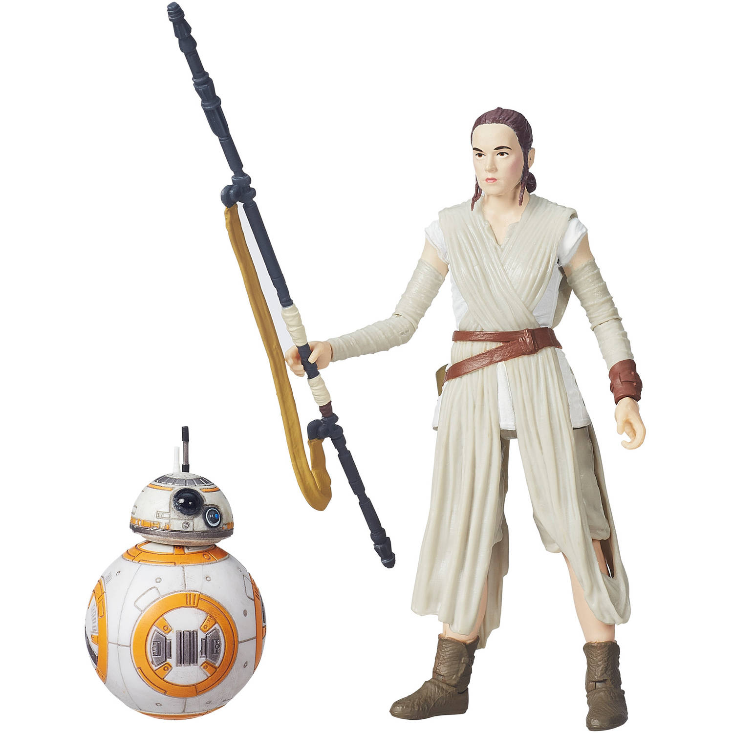 "Star Wars The Black Series 6"" Rey (Jakku) and BB-8"