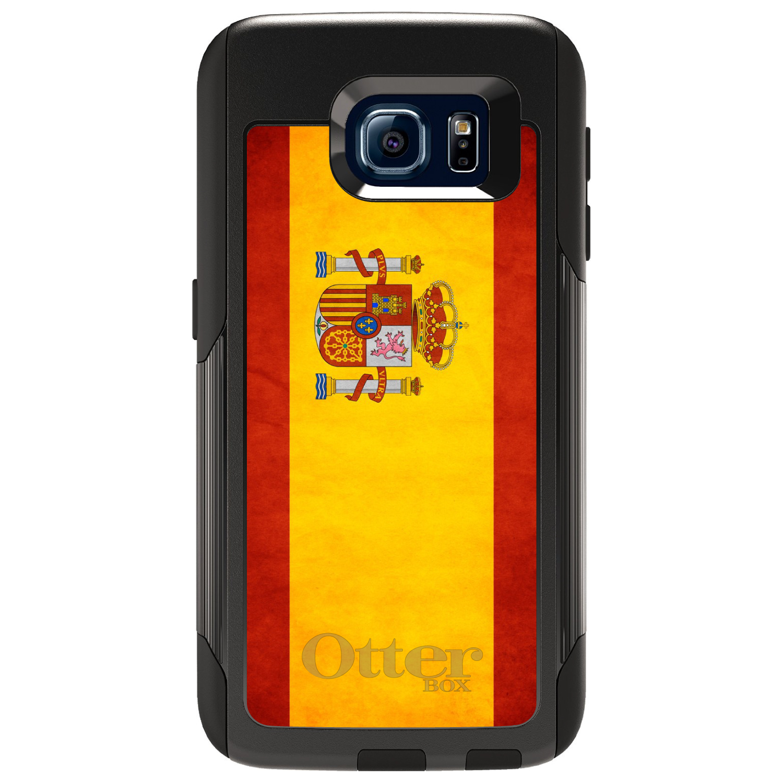 DistinctInk Custom Black OtterBox Commuter Series Case for Samsung Galaxy S6...