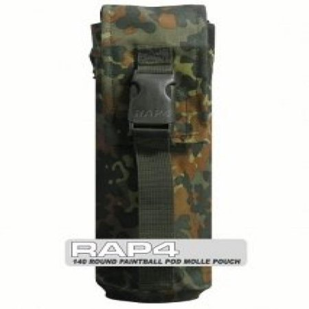 1 x 140 Round Paintball Pod MOLLE Pouch (German Flecktarn) - paintball equipment