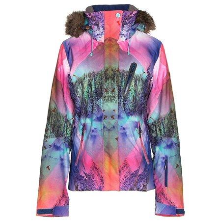 bf71c0b747 Roxy Jet Ski Premium w/Faux Fur Womens Insulated Snowboard Jacket