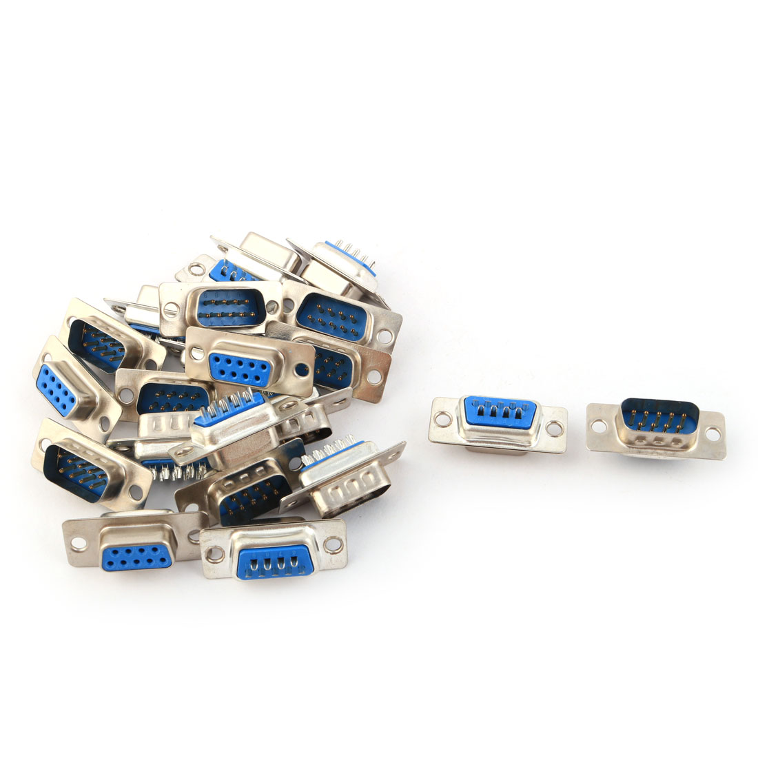 DB9 9 Pin Female to Male Solder Type Computer Cable Adapter Connectors 11 Pairs