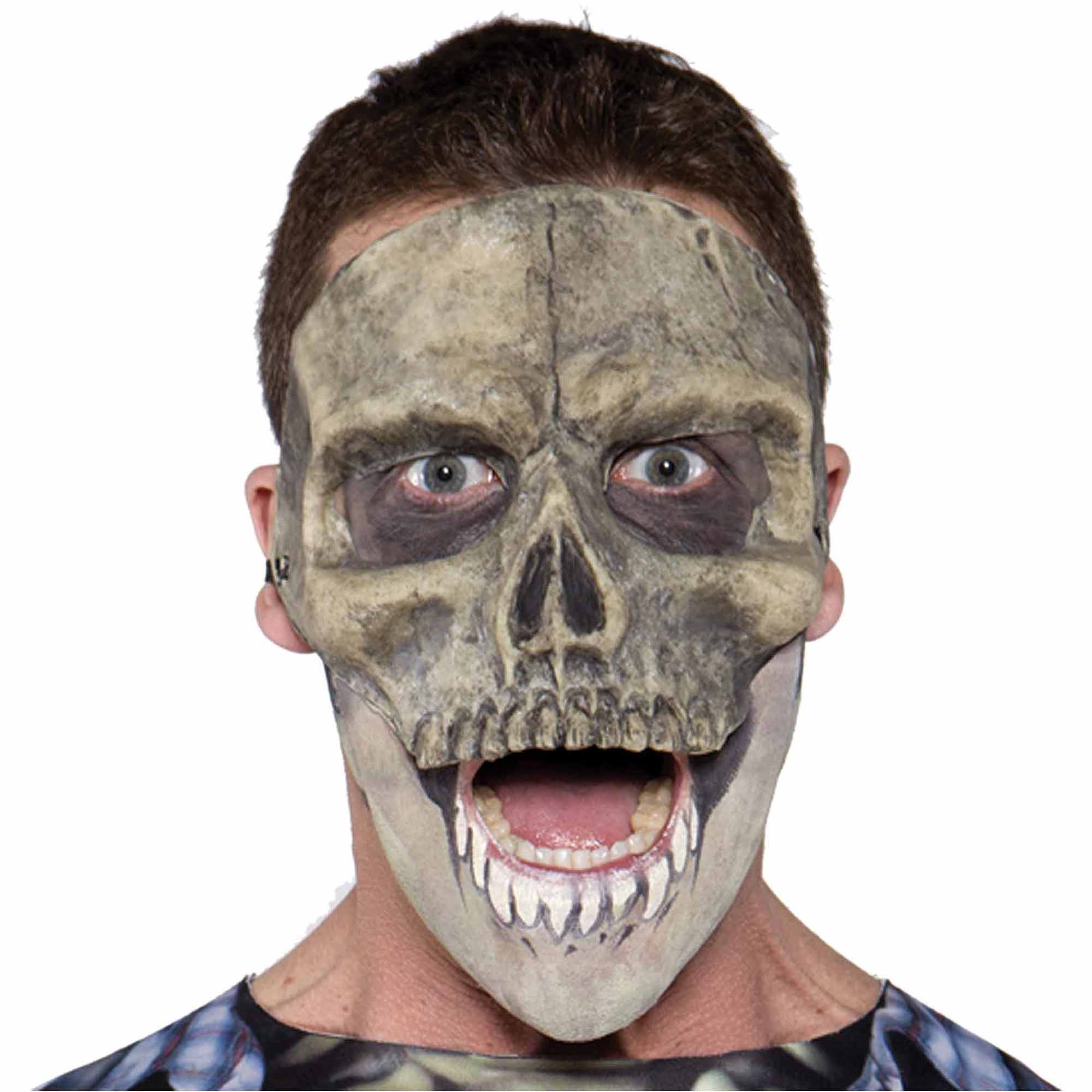 Skull Mask Latex Adult Halloween Accessory