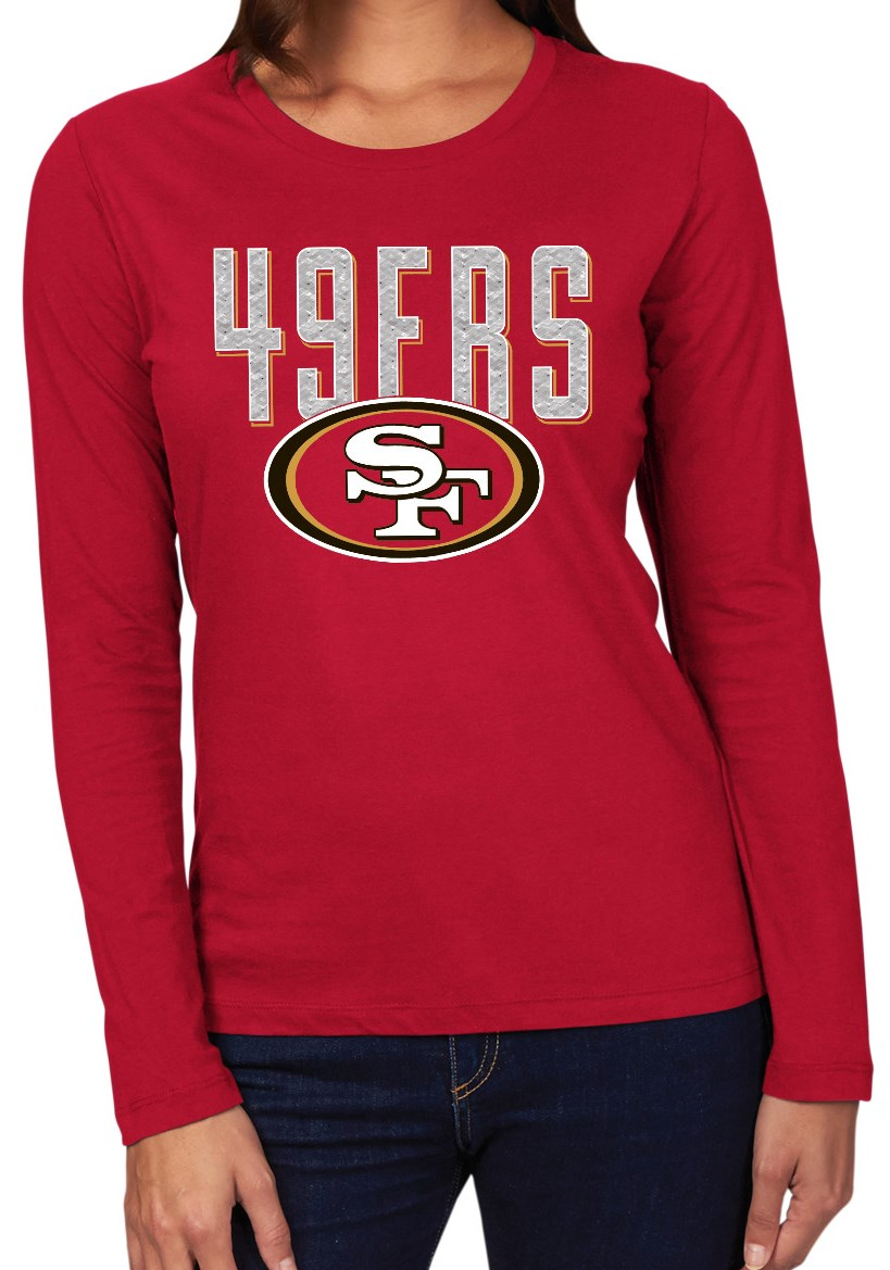 "San Francisco 49ers Women's Majestic NFL ""Advantage"" Long Sleeve T-shirt by Majestic"
