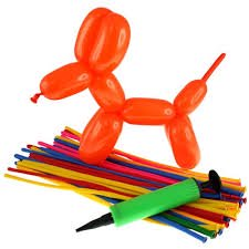 Animal Making Starting Kit - Create Sculptures with 50 Balloons in Different Color - Gift for Birthday Party, Décor - Fun Toy/ Activity/Gift for Older Kids, Teens Boys & Girls (Pack of 2)