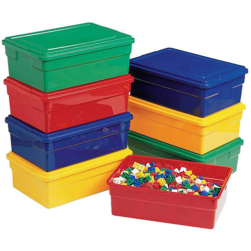 "Childcraft Storage Box with Lid, 16""L x 11""W x 6""H"