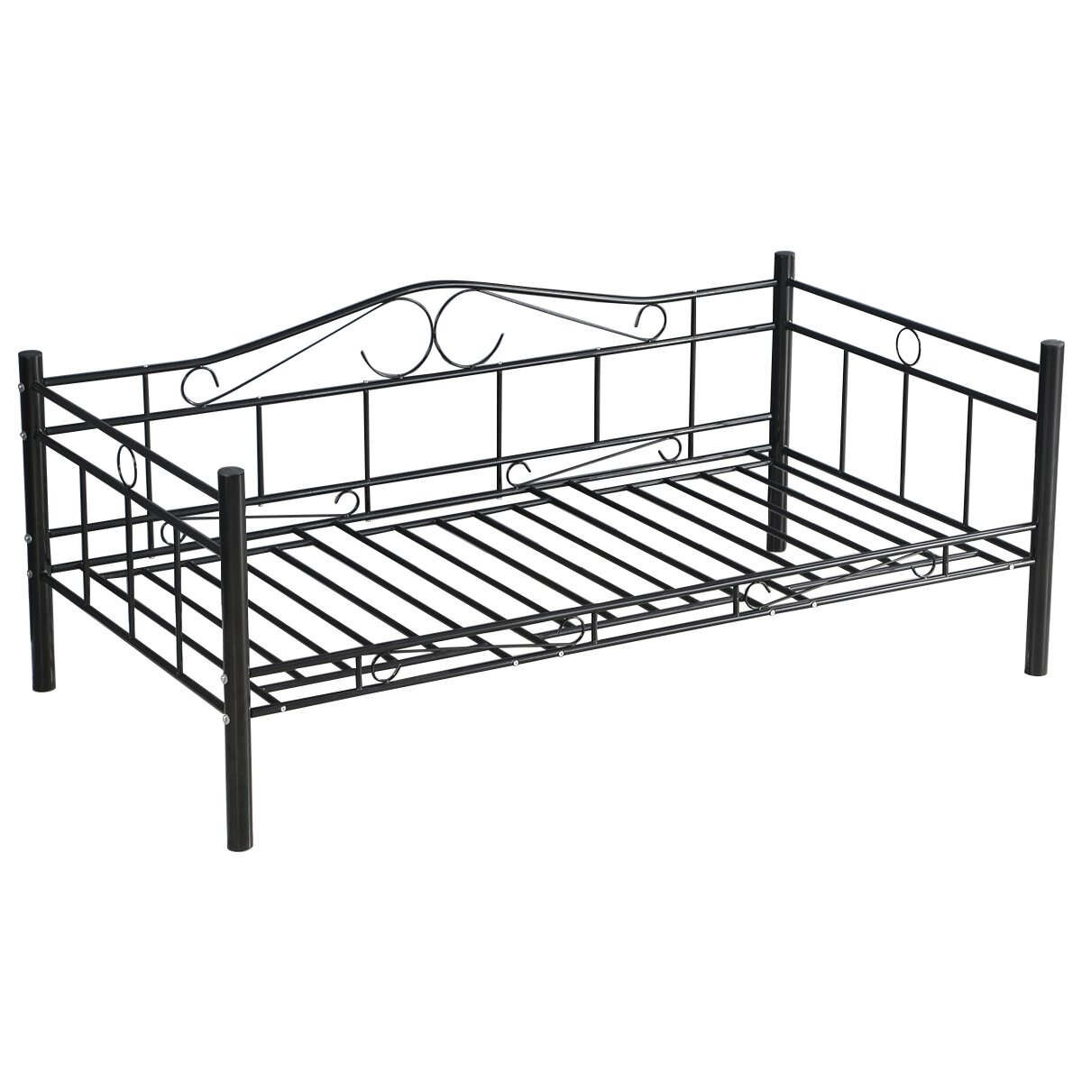 Gymax Metal Twin Daybed Sofa Bed Frame Solid Support Guest Dorm Home Furniture