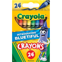2-Pack Bluetiful Crayola Classic Crayon 24 count