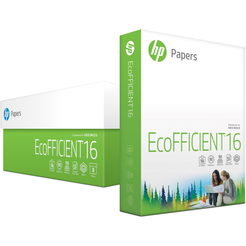 HP, HEW216000, EcoFFICIENT Lightweight Paper, 5000 / Carton, White