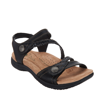 1b2c0d33df8f Earth Origins - Earth Origins SALINA Womens Black Leather Adjustable Sandals  - Walmart.com