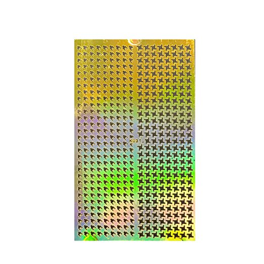 Wrapables® Gold Nail Art Guide Large Nail Stencil Sheet - Houndstooth