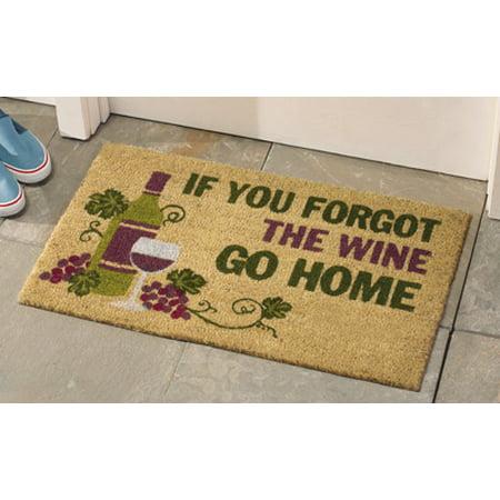 Grape Decor - Decorative Wine Coco Mat Tuscan Grape Vineyard Wine Kitchen Home Accent Rug Runner Decor