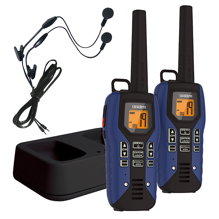 Uniden Gmr5095-2ckhs Submersible Two Way Radio With Charger And Headset 22 X Gmrs frs... by Uniden