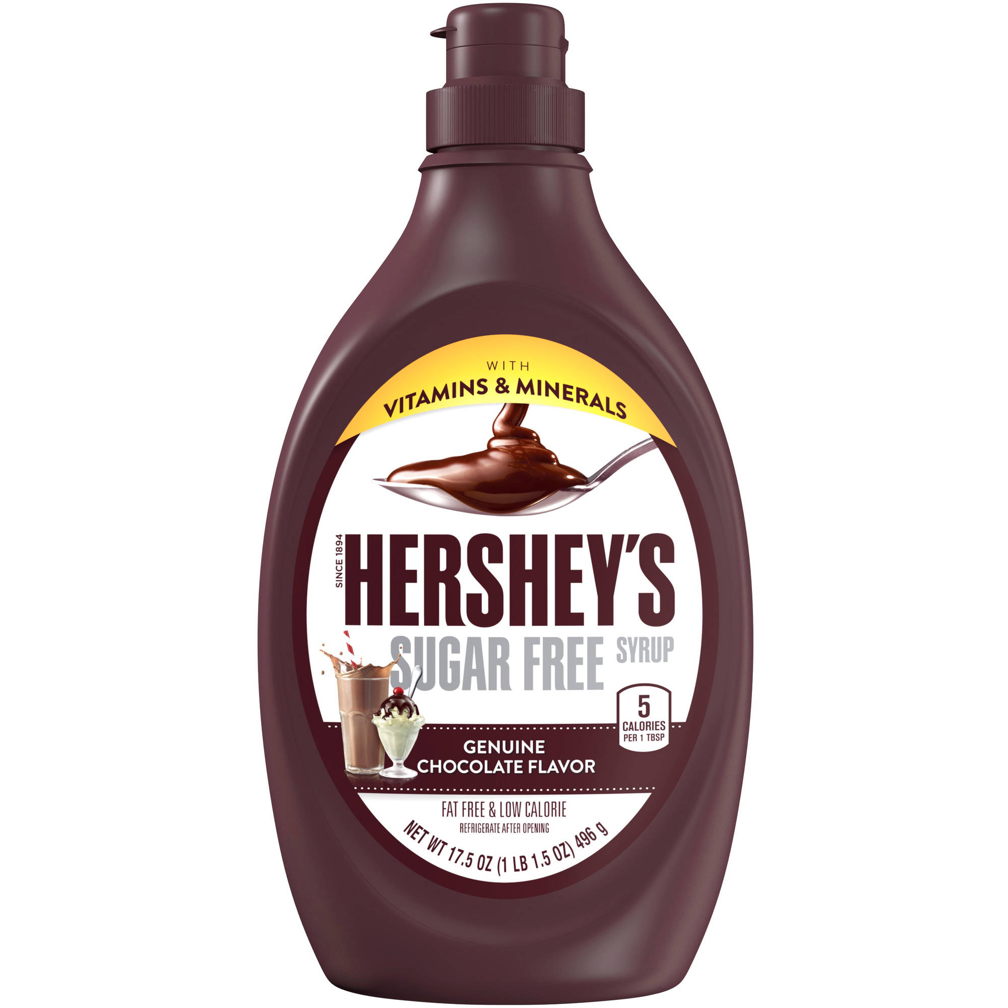 Hershey's Chocolate Syrup Low Calorie Sugar Free Vitamin & Mineral Fortified, 17.5 oz