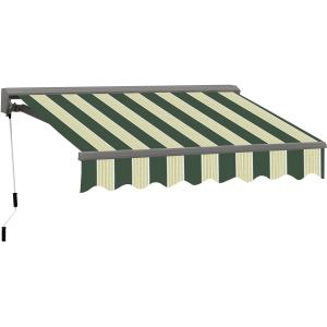 10FT C SERIES SEMI-CASSETTE ELECTRIC RETRACTABLE AWNING 8FT