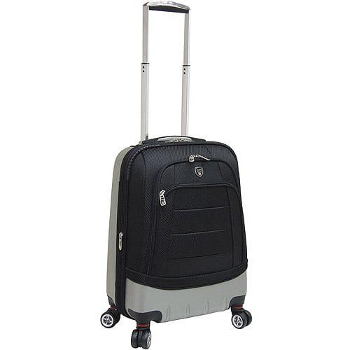 Travelers Club Hybrid Expandable Rolling Upright, Black