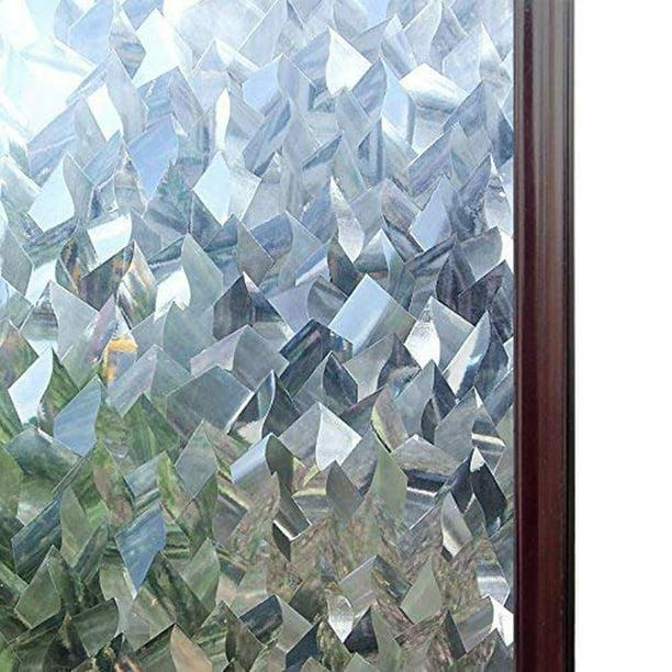 rabbitgoo 3ft x 3d no glue static decorative frosted.htm rabbitgoo privacy window film 3d crystal icicles stained glass  window film 3d crystal icicles