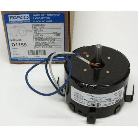 D1159 Fasco Bathroom Fan Vent Motor for 7163-1845 656 293A - Fasco Fan Motors