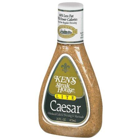 Ken's Steak House Lite Caesar Salad Dressing, 16 Ounce Bottle