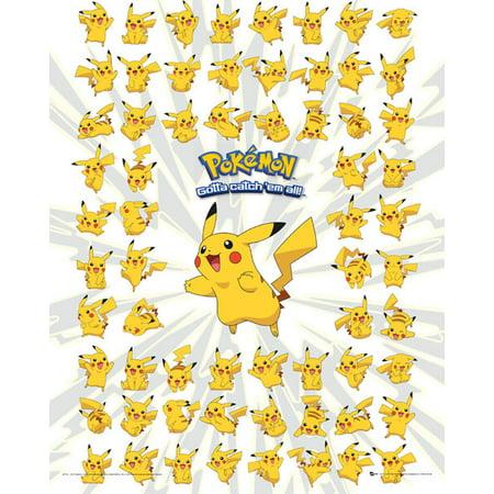 Pokemon Pikachu Poster Print (16 x 20)