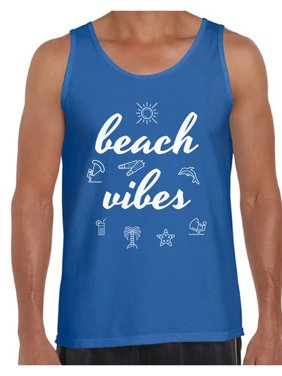 f5efc023 Product Image Awkward Styles Beach Vibes Tank Top for Men Beach Tank Summer  Workout Clothes Men's Beach Muscle. Product Variants Selector. Black