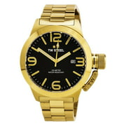 CB92 Men's Canteen Bracelet Black Dial Yellow Gold Stainless Steel Watch