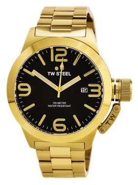 51e64421635 Product Image CB92 Men s Canteen Bracelet Black Dial Yellow Gold Stainless Steel  Watch. TW Steel