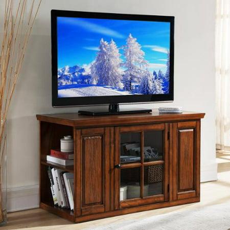 Kd Furnishings Oak 42 Inch Bookcase Tv Stand Media Console