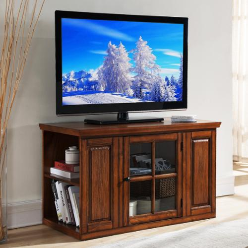 KD Furnishings Oak 42-inch Bookcase TV Stand & Media Console