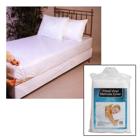Full Size Bed Mattress Cover Plastic White Waterproof Bug Protector Mites Dust