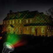 Solar Powered Outdoor Christmas Laser Show Light Projector with 4 Images for the Holiday  (Great For Christmas Decoration OR Simply To ADD Decoration Anytime) No Wires / Wireless /Cordless