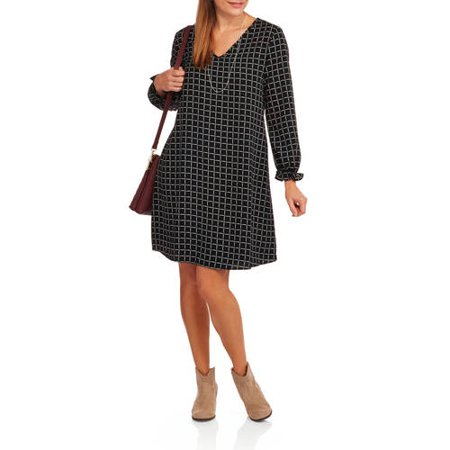Glamour & Co Women's Long Sleeve Peasant Dress