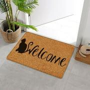 """HomeBright Hello Welcome Home Indoor and Outdoor Fiber Doormat, 18"""" x 30"""""""