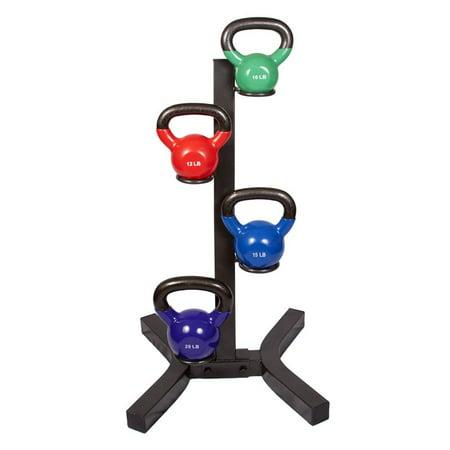 j fit kettlebell rack with set of 4 kettlebells. Black Bedroom Furniture Sets. Home Design Ideas