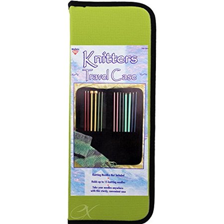 Knitters Travel Case Holds up to 15 Knitting Needles Zippered Case, Colors May Vary - image 1 de 1