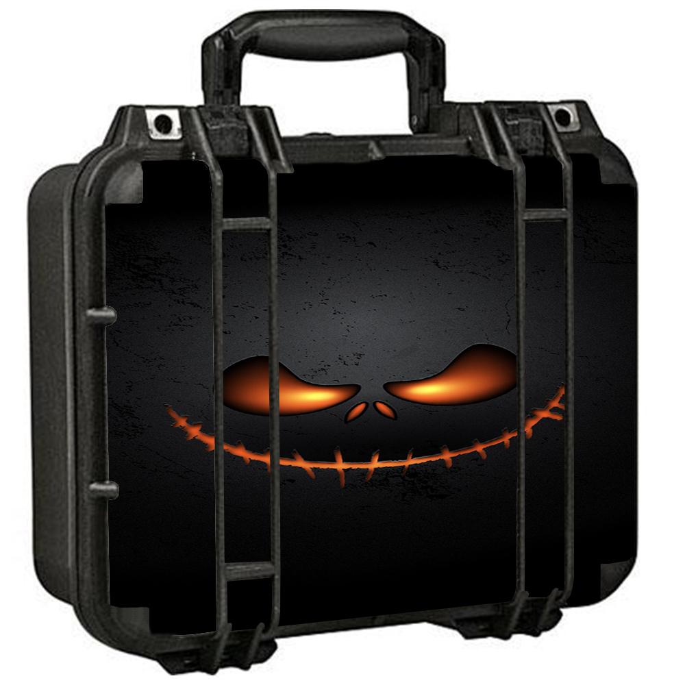 Skins Decals For Pelican 1400 Case / Wicked Pumpkin