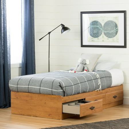 Metal Pine Bed (South Shore Prairie 3-Drawer Storage Bed, Twin, Country)