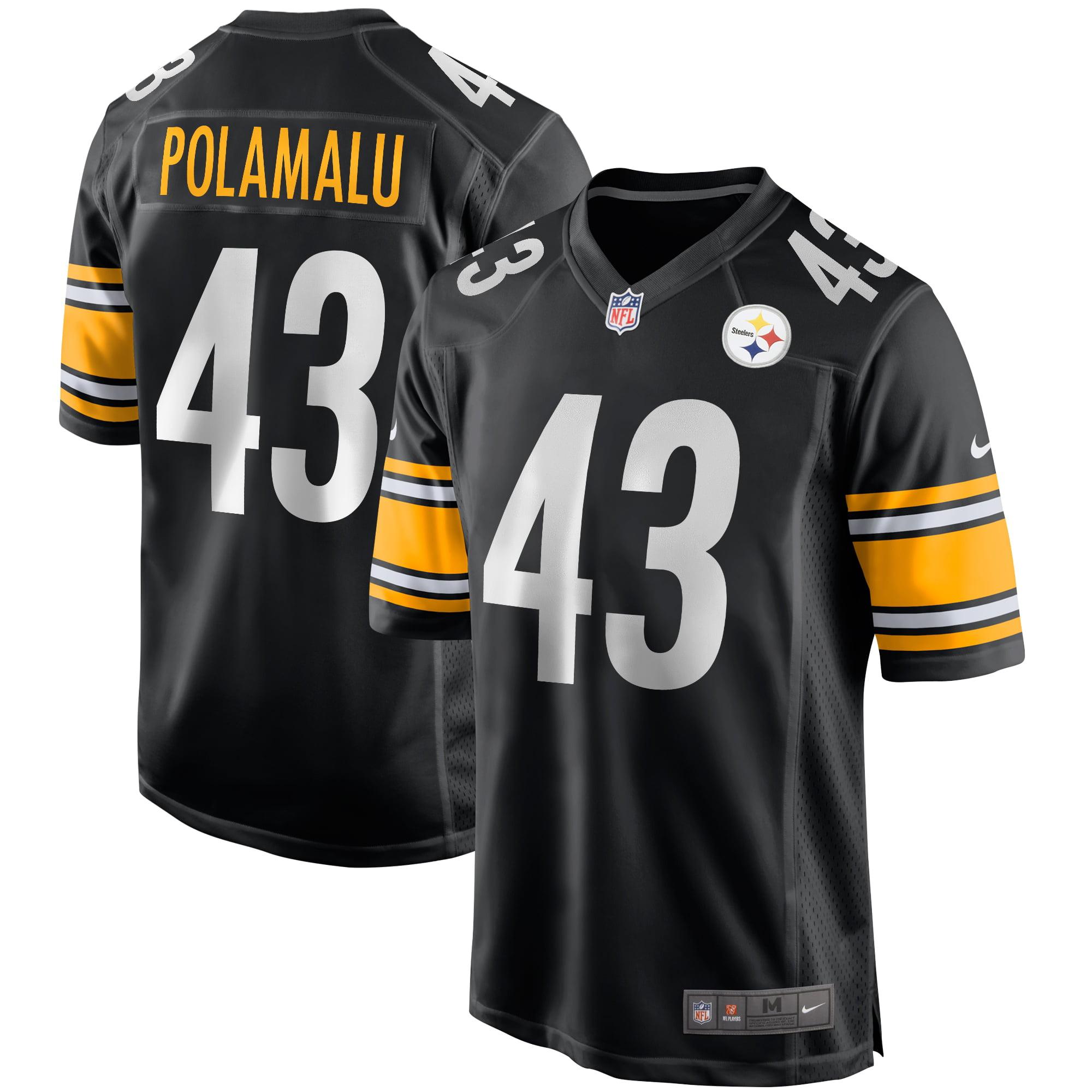 Troy Polamalu Pittsburgh Steelers Nike Game Retired Player Jersey - Black