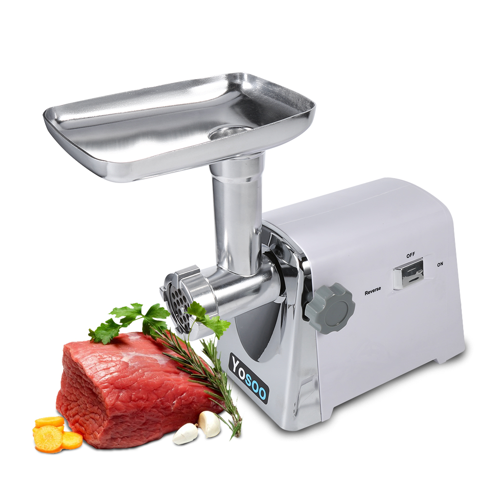 HURRISE 1600W Home Electric Meat Grinder,Sausage Maker Meat Machine Stainless Steel