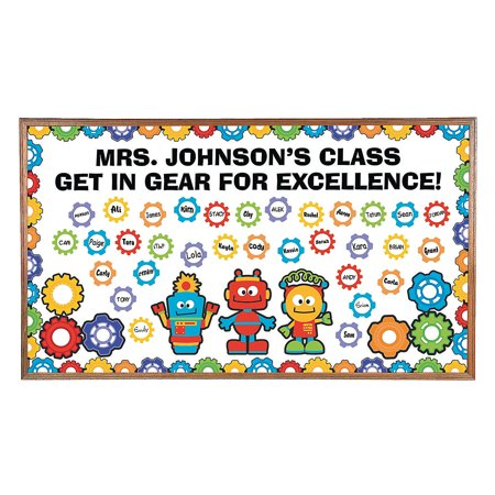 Fun Express - Gears & Robots Bulletin Board Set - Educational - Classroom Decorations - Bulletin Board Decor - 200 Pieces](Decorating Classroom)