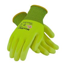 MaxiFlex 34-874FY Hi-Viz Glove Nitrile Coated Micro-Foam Grip (Pair)