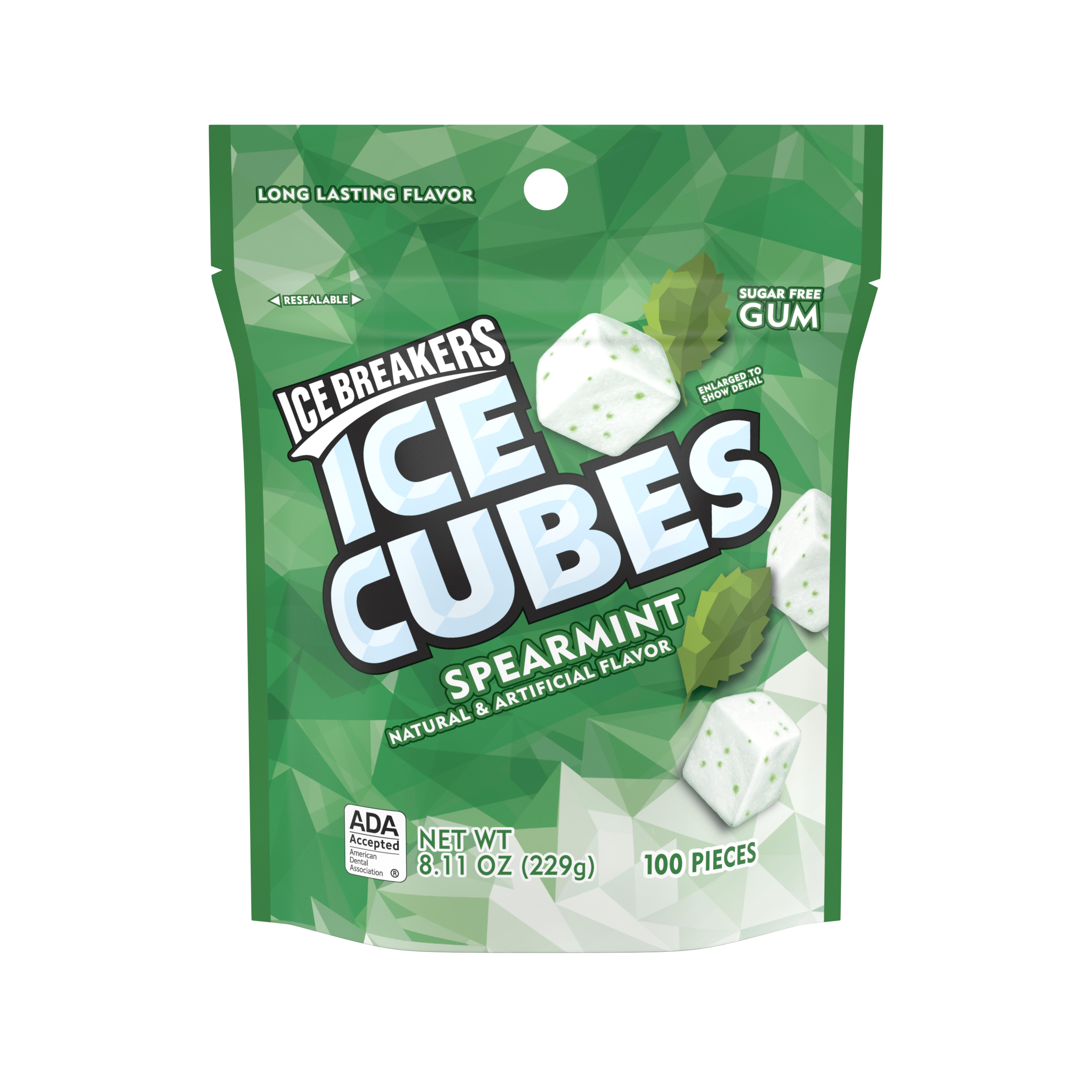 ICE BREAKERS ICE CUBES Sugar Free Spearmint Gum, 8.11 Ounces