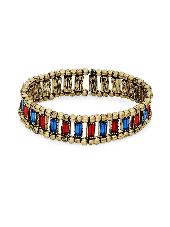Goldtone Rhinestone Stretch Bracelet