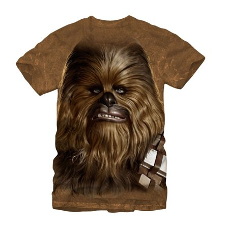 Star Wars Chewbacca Mineral Wash Men's Brown T-Shirt, Small - Chewbacca Jacket