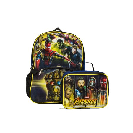 Avengers Backpack With Lunch - Backpack With Lunchbox