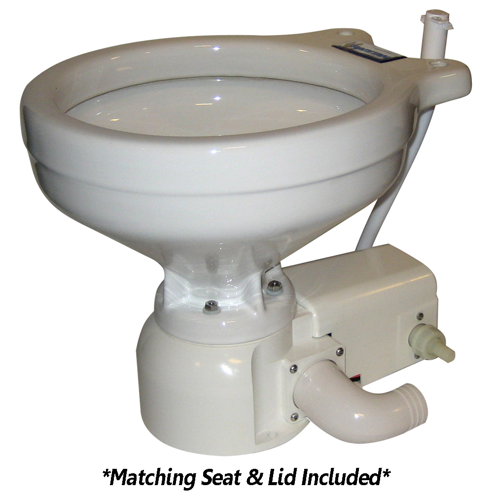 Raritan 162HF012 Sea Era Household Size Toilet - Press - Fresh Water - Straight & 90° Discharge - Smart Switch - White