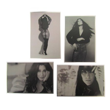 Cher Set of 4 Black and White Photo Park Theater Monte Carlo Las Vegas