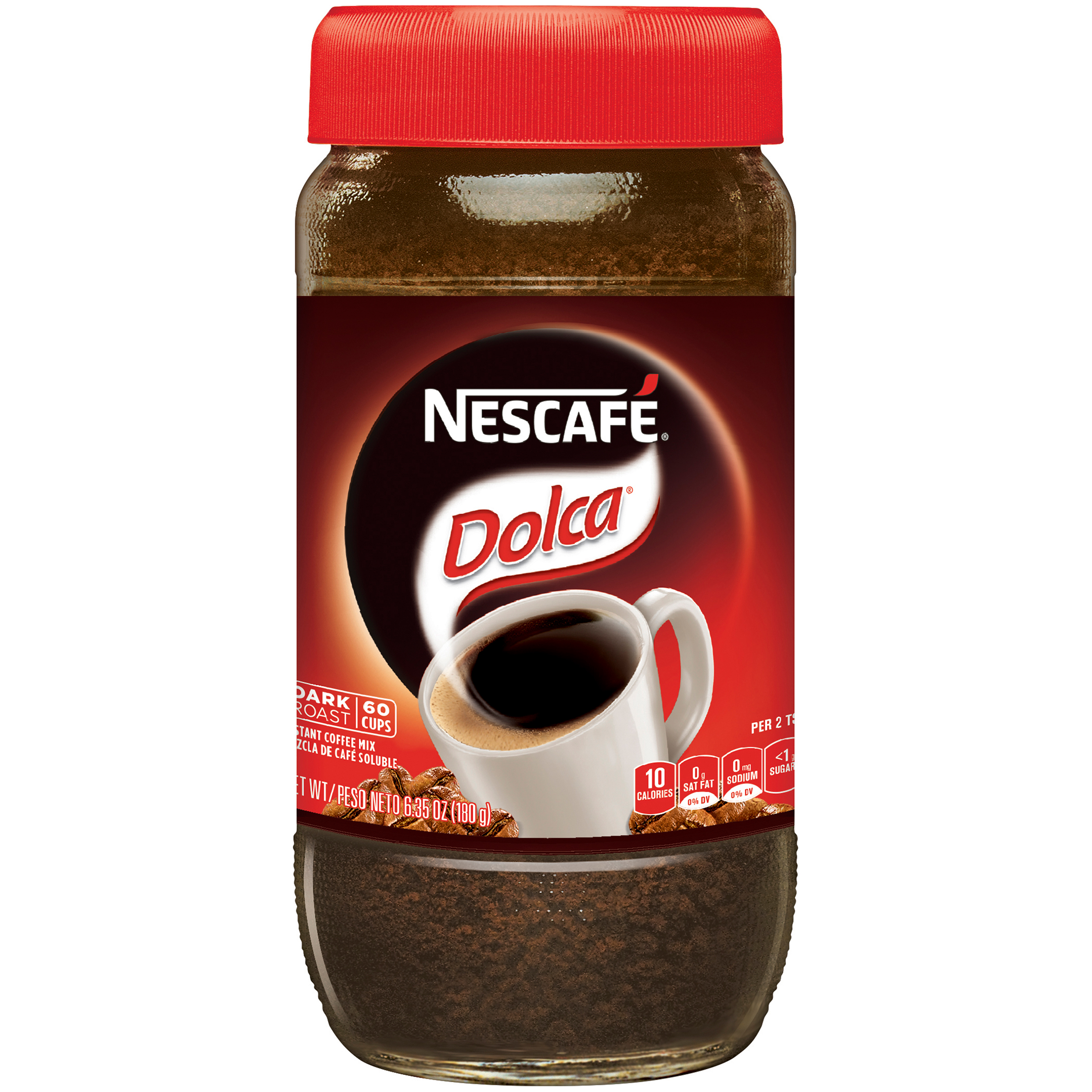 NESCAFE DOLCA Instant Coffee Mix 6.34 oz. Jar