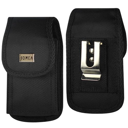 quality design ef3c9 57c55 iPhone 6 Plus 6s Plus 7 Plus Holster, Bomea Rugged Nylon Vertical Belt Case  with Clip Durable Belt Clip Cell Phone Pouch Holder (Plus Size For iPhone  ...